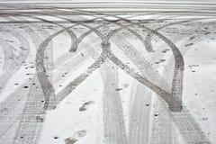 轮胎跟踪 图库摄影
