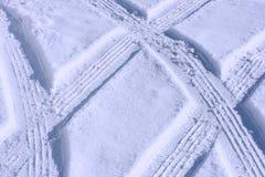轮胎跟踪 免版税库存图片