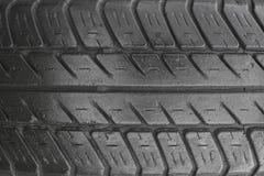 轮胎踩,特写镜头视图 库存图片