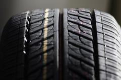 轮胎踩 库存图片