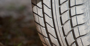 轮胎踩 图库摄影