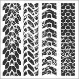 轮胎轨道-传染媒介集合 免版税库存图片