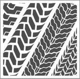 轮胎轨道-传染媒介集合 免版税库存照片