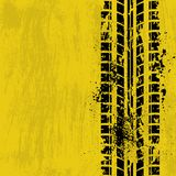 轮胎轨道黄色 库存照片