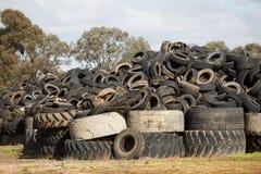 轮胎转储, Cobram维多利亚 免版税库存照片