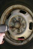 轮胎轮胎更改 免版税库存照片