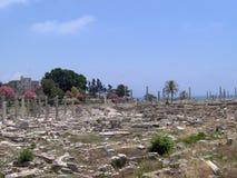 轮胎,南黎巴嫩老城市 库存图片