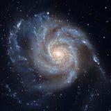 轮转焰火星系更加杂乱101,在星座大熊座的M101 免版税库存照片