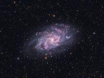 轮转焰火星系- M33 免版税库存照片