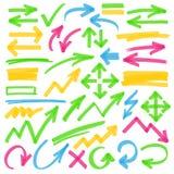轮廓色_箭头和标号设计元素 库存照片