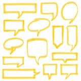 轮廓色_讲话泡影设计元素 免版税库存图片