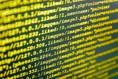 软件抽象背景 计算机剧本键入的工作 库存图片