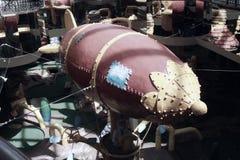 软式小型飞艇 免版税库存照片