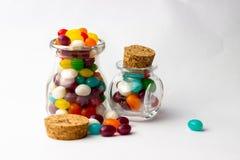 软心豆粒糖甜点 图库摄影