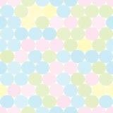 软性与圈子的色的无缝的样式 抽象几何背景 库存例证