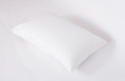 软性和卫生学把伟大枕在白色隔绝的您的卧室的 免版税图库摄影