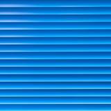 软百叶帘 被定调子的蓝色 库存图片