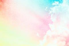 软的云彩背景颜色 库存图片