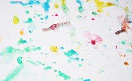 软的五颜六色的闪耀的蜡状的生动的柔和的淡色彩察觉水彩被弄脏的蜡状的金斑点五颜六色的颜色,刷子, backgrounnd冲程  免版税图库摄影