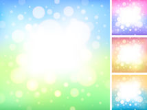 软的发光的圈子背景 库存照片