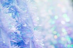 软的圣诞节闪亮金属片 库存图片