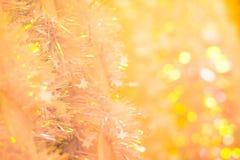 软的圣诞节闪亮金属片 免版税库存照片