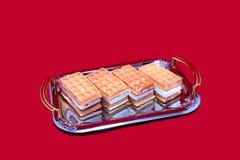 软的奶蛋烘饼。 免版税图库摄影