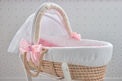 软的婴孩篮子 图库摄影