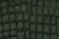 从软的室内装饰品纺织材料,特写镜头的绿色背景 与模式的织品 库存照片