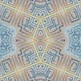 软的无缝的难看的东西五颜六色的样式 与手工制造淡色线的拼贴画 蜡染布背景,背景 Boho样式,万花筒m 免版税库存照片