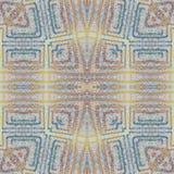 软的无缝的难看的东西五颜六色的样式 与手工制造淡色线的拼贴画 蜡染布背景,背景 Boho样式,万花筒m 库存图片