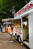 软的椒盐脆饼在Lititz公园 免版税图库摄影