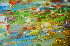 软的泥泞的水彩金黄蓝色淡色背景 免版税库存照片