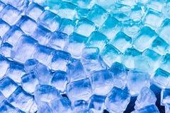 软的焦点新鲜的凉快的冰块 库存照片