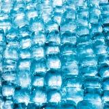 软的焦点新鲜的凉快的冰块 免版税库存图片
