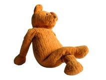 软的玩具一头黄色熊有休息 库存图片