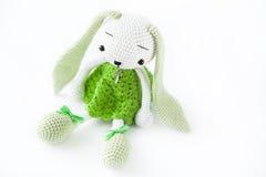 软的玩具兔宝宝 免版税库存照片