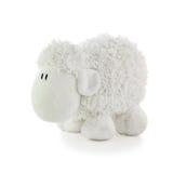软的玩具白色羊羔 免版税图库摄影