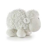 软的玩具白色羊羔 库存图片