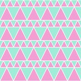 软的绿色桃红色三角无缝的样式 向量例证
