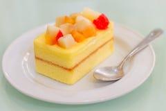 软的蛋糕-可口甜点 免版税库存照片