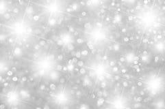 软的银色背景闪闪发光 免版税库存图片