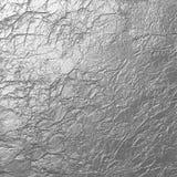 软的银被弄皱的纹理背景 库存图片