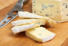 软的青纹干酪 库存照片