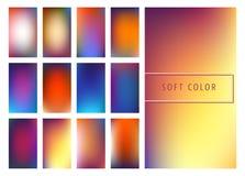 软的颜色梯度背景 免版税库存图片