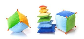 软的颜色玩具 免版税库存图片