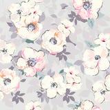 软的水彩喜欢花卉图案-无缝的背景 免版税图库摄影