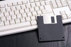软盘和键盘 免版税库存图片