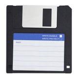 软盘在白色背景 免版税库存照片
