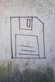 软盘街道画 免版税库存照片